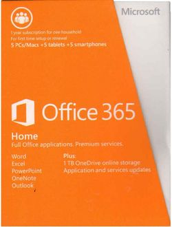 Microsoft Office 365 Home Premium Product Key Card (32-bit| 64-Bit)