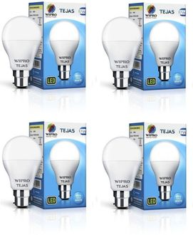 Wipro Tejas 7W B22 LED Bulb (Cool Day Light, Pack Of 4)