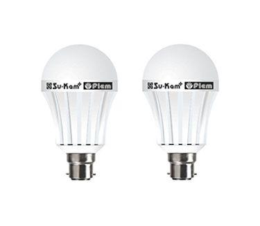 Su-Kam Fiem 7W B22 LED Bulb (White, Pack of 2)