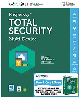 Kaspersky Total Security Multi Device 1User, 1Year & Internet Security for Android Combo