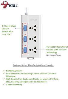 Bull S3030-15 3 Way Extension Socket (1.5 Mtr)