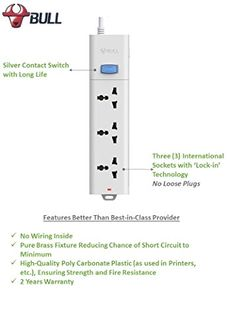 Bull S1030-30 3 Way Extension Socket (3 Mtr)