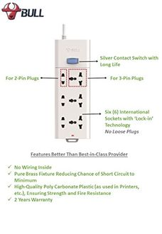 Bull S1330-30  5 Way Extension Socket (3 Mtr)