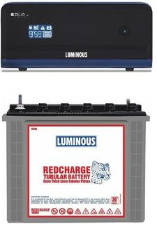 Luminous Zelio1100 900VA Inverter (With RC 18000 Tubular Battery)