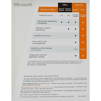 Microsoft Office 365 Home Subscription 5 PC 1 Year