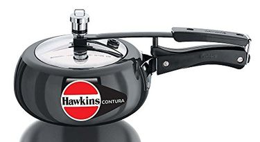 Hawkins Contura Black CB20 Aluminium 2 L Pressure Cooker (Inner Lid)