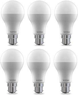 Wipro 15W  B22 LED Bulb (Cool Day Light, Pack of 6)