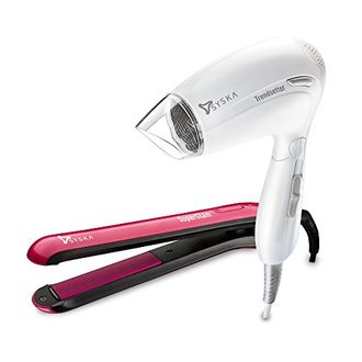 Syska Combo of Superglam HS-6811 Hair Straightener & Trendsetter HD-1605 Hair Dryer