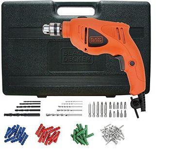 Black & Decker HD400KA50 500W Impact Drill Kit (75 Accessories)