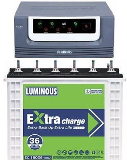 Luminous EcoVolt 1050 Inverter (with EC 18036 150Ah Tubular Battery)