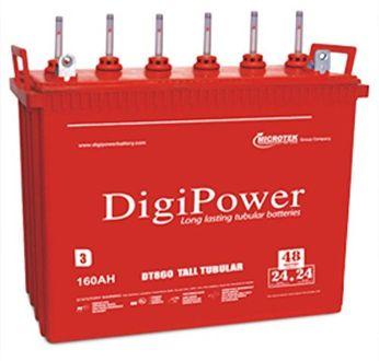 Microtek 860 DT 160 AH Tall Tubular Battery