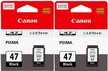 Canon Pixma 47 Black Ink Cartridge (Twin Pack)