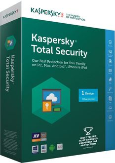 Kaspersky Total Security 2017 1PC 3 Year Antivirus