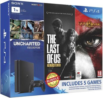 Sony PS4 Slim 1TB Ultimate Player Edition (With The Last of Us & Uncharted Collection, God of War Remastered)
