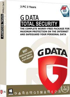 G Data Total Security 3 PC 3 Year Antivirus