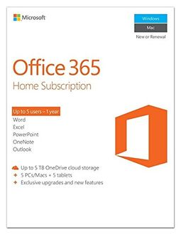 Microsoft Office 365 Home Subscription 5 PC (Key)