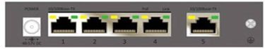 CP PLUS (CP-TNW-HP4H1-6) 5 Port Network Switch