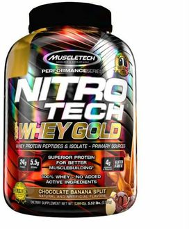 Muscletech Nitrotech Whey Gold Protein (2.5kg, Chocolate Banana Split)