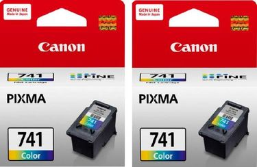 Canon Pixma 741 Tri Color Ink Cartridge (Twin Pack)