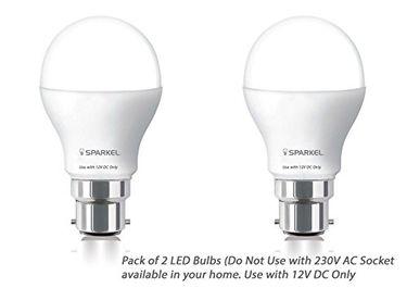 Sparkel 9W B22 Led Bulb (White, Pack of 2)