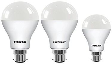 Eveready 14W B22 100L LED BULB (White,Pack of 2) with 9w 6500k White LED Bulb