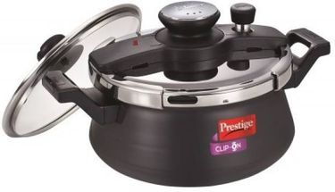 Prestige clip on handi Hard Anodized Aluminium 5 L Pressure Cooker (Induction Bottom,Outer Lid)
