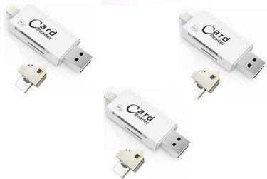 ROQ 3 IN 1 USB Card Reader
