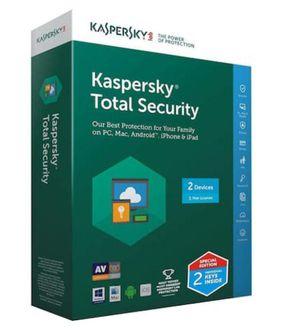 Kaspersky Total Security 2017 2 PC 1 Year Antivirus