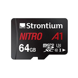 Strontium Nitro A1 64GB MicroSDXC Class 10 (100MB/s) UHS-3 Memory Card (With Adapter)