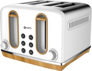 Koryo KPT4105BSS 4 Slice Pop Up Toaster