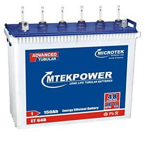 Microtek Mtek Power ET-648 Tall 150Ah Tubular Battery