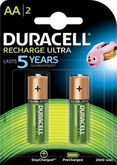 Duracell Ultra AA  2500 mAh Rechargeable Batteries (2 Pcs)