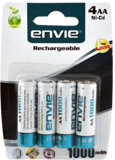 Envie AA 1000 4PL Ni-CD Rechargeable Battery