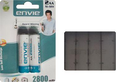 Envie 2 x AA 2800mAh Ni-Mh Rechargeable Battery