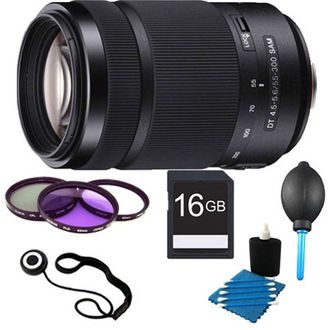 Sony DT 55-300 mm f/4.5-5.6 Telephoto Zoom Lens