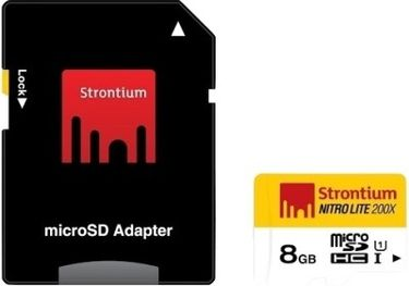 Strontium Nitro 8GB Class 10 MicroSDHC Memory Card