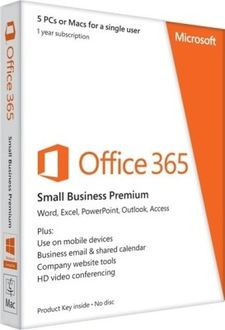 Microsoft Office 365 Small Business Premium 5 PC 1 Year