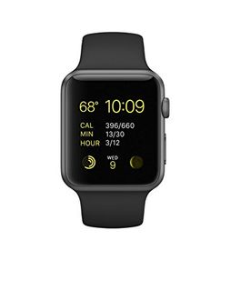 Apple Watch Sport Space Grey Aluminium Case Black Sport Band 42mm
